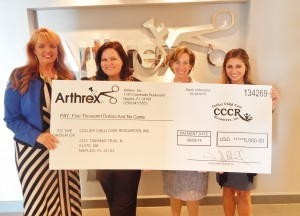 CCCR Receives $5,000 from Arthrex