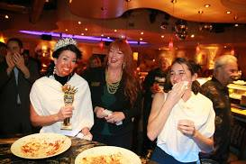 """""""Queen vs. Teen Pasta-eating Contest!""""  And the winner is…"""