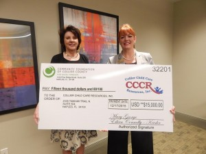 CCCR Receives $15,000 Grant from the Community Foundation of Collier County