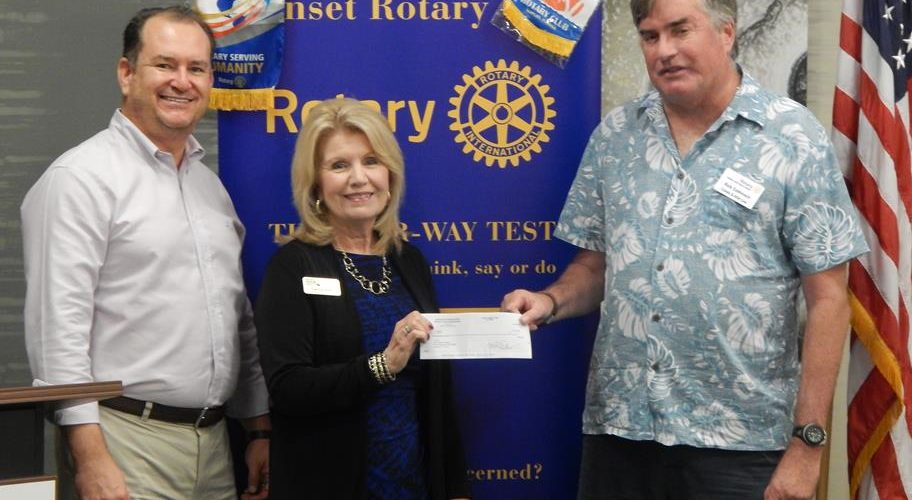 $5,000 donation from Rotary to CCCR