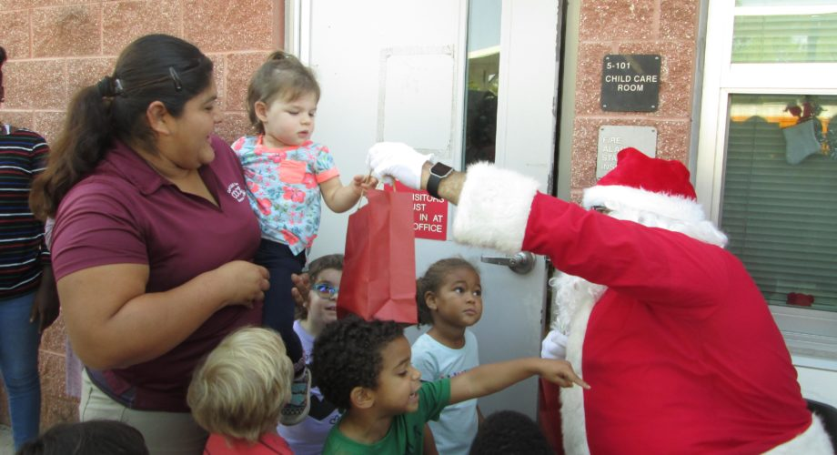 Snow Day at A Step Up Golden Gate High School Featured a  Visit from Santa and Donated Menchies Frozen Yogurt