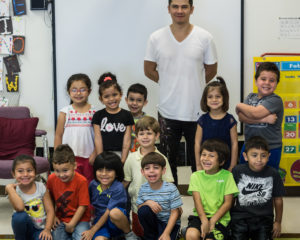 Artist Juan Diaz Visits Child's Path