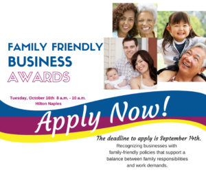 The Deadline to Apply for a Family Friendly Business Award is September 14th!