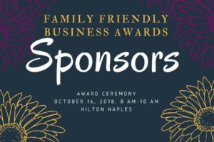 Thank you to the sponsors of the 2018 Family Friendly Business Awards