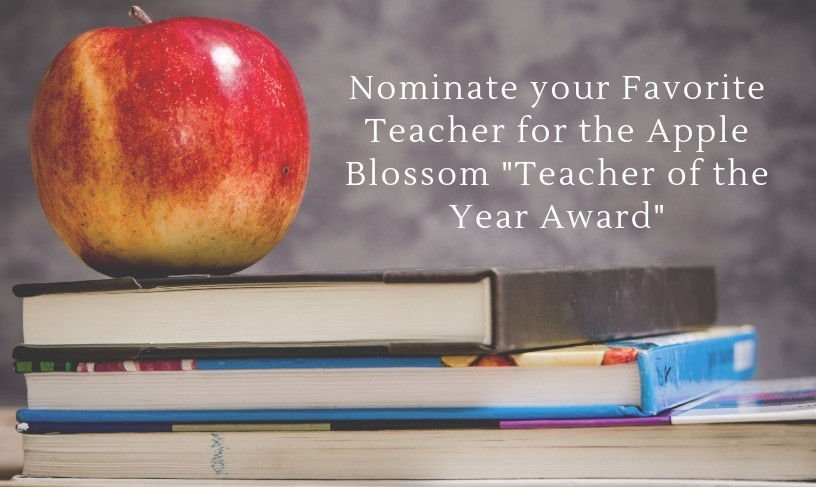Teacher Nominations Are Open Now for the 2019 Apple Blossom Awards!