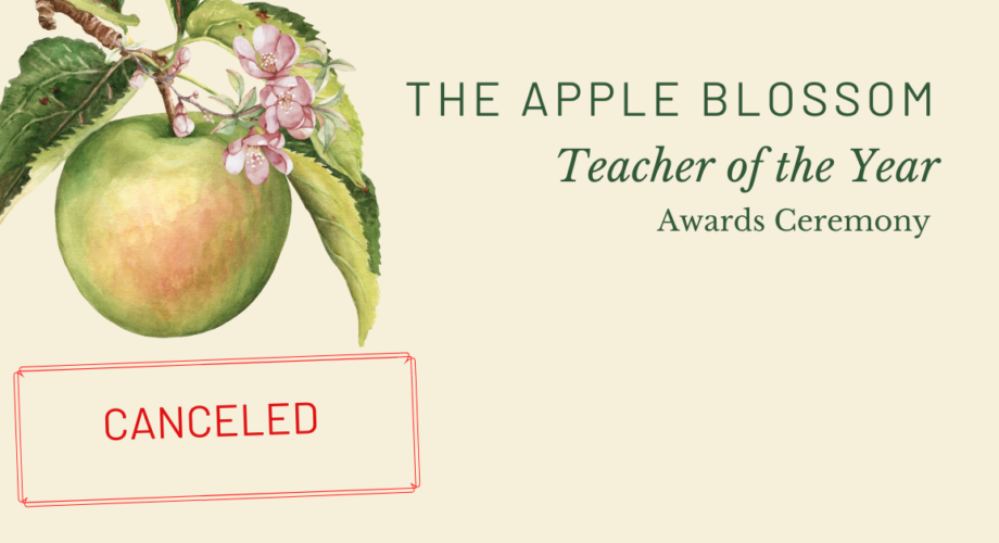 Apple Blossom Awards Have Been Canceled